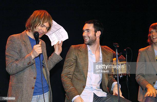 Mickey Madden and Adam Levine of Maroon 5