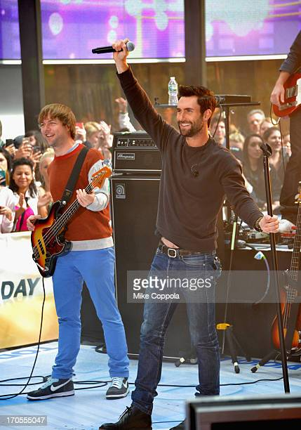 Mickey Madden and Adam Levine of the band Maroon 5 perform perform on NBC's Today at the NBC's TODAY Show on June 14 2013 in New York New York