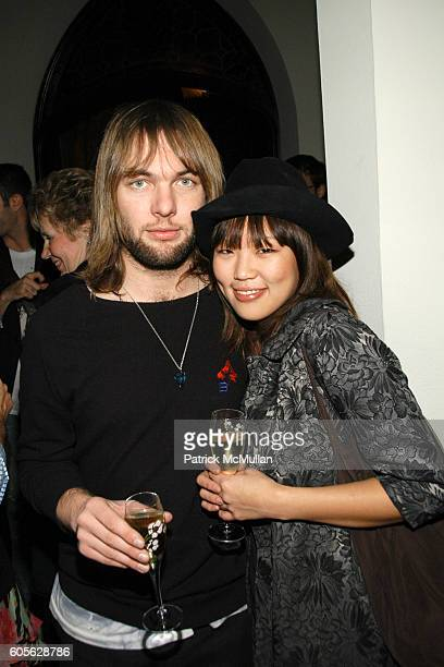 Mickey Madden and Nellie Kim attend ETRO and Perrier Jouet celebrate the launch of Patrick McMullan's book KISS KISS at Chateau Marmont on February...