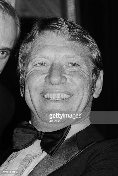 Mickey Mantle closeup in a tux circa 1970 New York