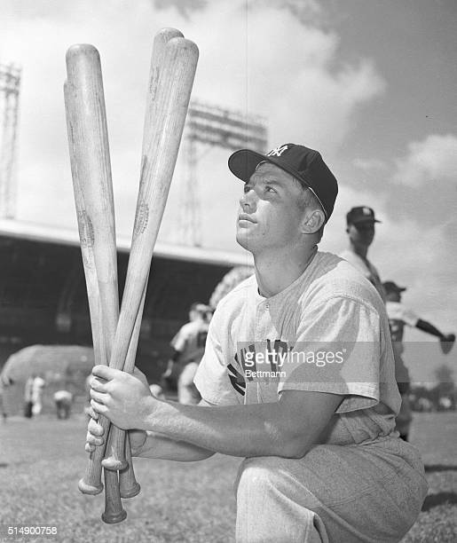 Mickey Mantle Deciding Between Bats