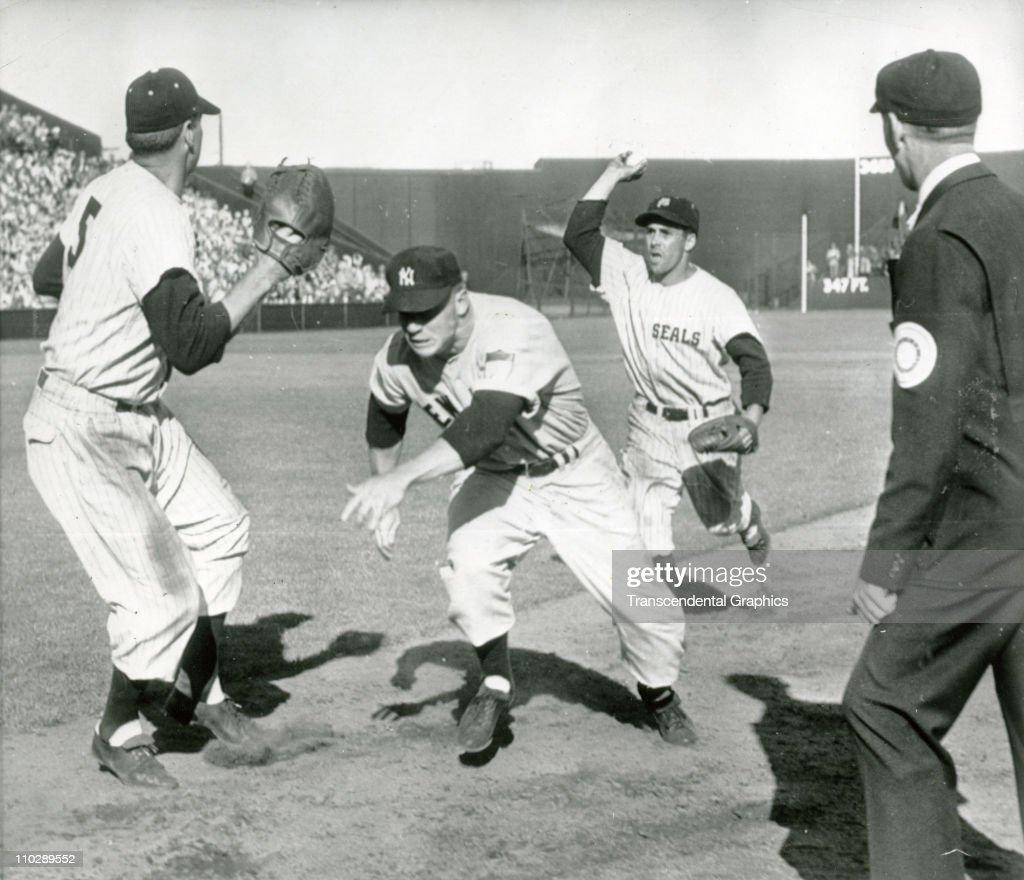 Mickey Mantle Spring Training SF 1952 : News Photo