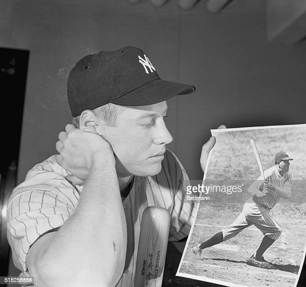 Mickey Mantle the 21 year old New York Yankee centerfielder whose booming hits have stamped him as one destined to be counted among the greatest...