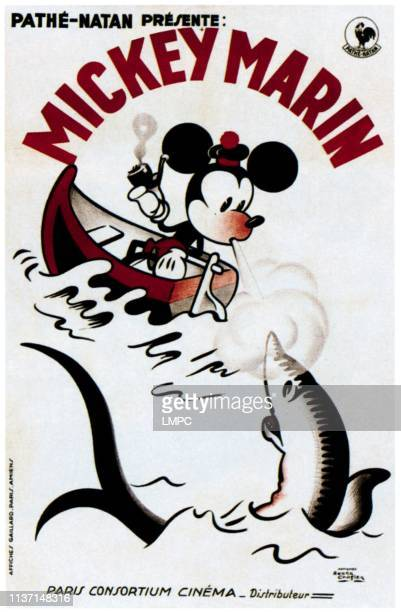 Mickey Marin poster Mickey Mouse on French poster art 1930