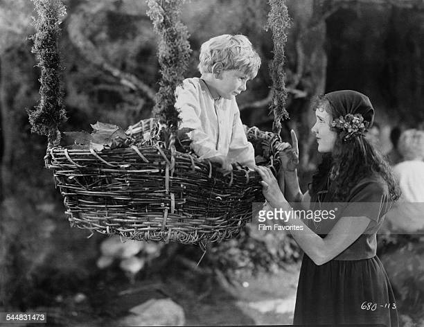 Mickey McBan as Slightly and Mary Brian as Wendy Darling in the film 'Peter Pan' 1924 The film was based on the play by J M Barrie