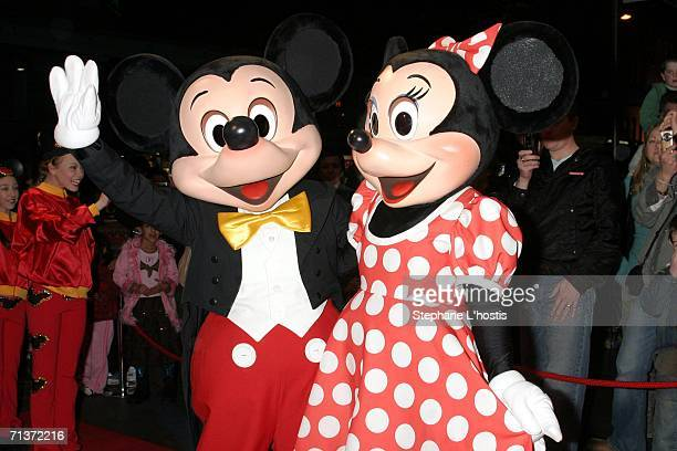 Mickey Mouse and Minnie Mouse attend the Magical World of Disney On Ice opening night at the Sydney Entertainment Centre July 5 2006 in Sydney...
