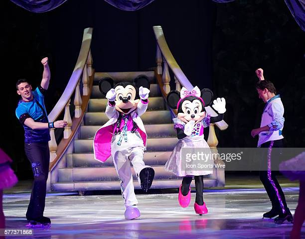 Mickey Mouse and Minnie Mouse during the Disney on Ice performance