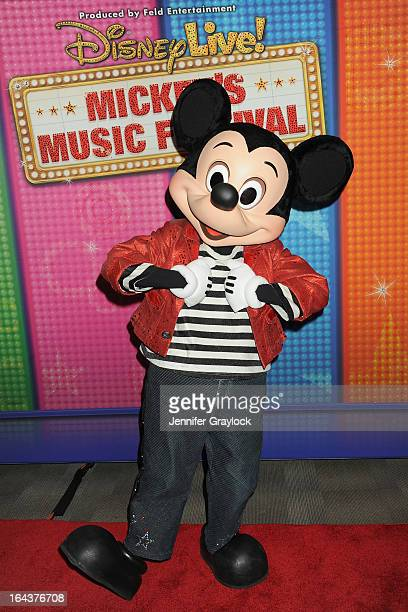 Mickey Mouse attends Disney Live Mickey's Music Festival at Madison Square Garden on March 23 2013 in New York City
