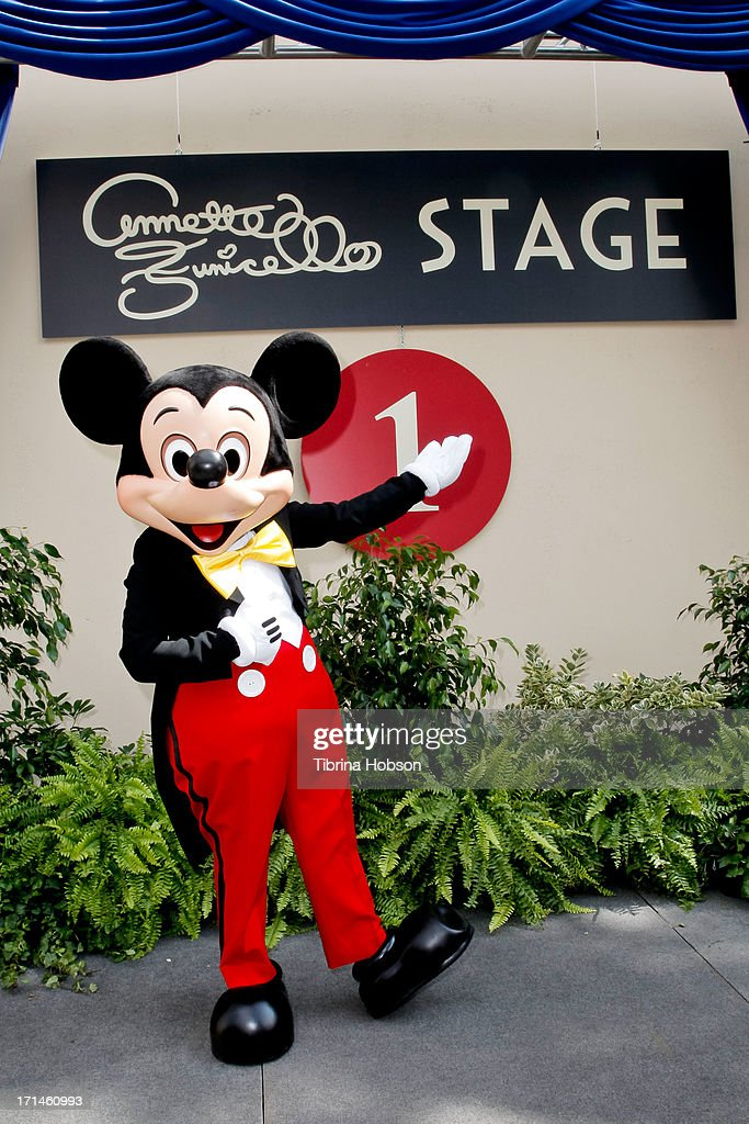 Mickey Mouse attends the stage one rededication ceremony hosted by Walt Disney Company CEO Bob Iger honoring 'America's Sweetheart' Annette Funicello at Walt Disney Studios on June 24, 2013 in Burbank, California.