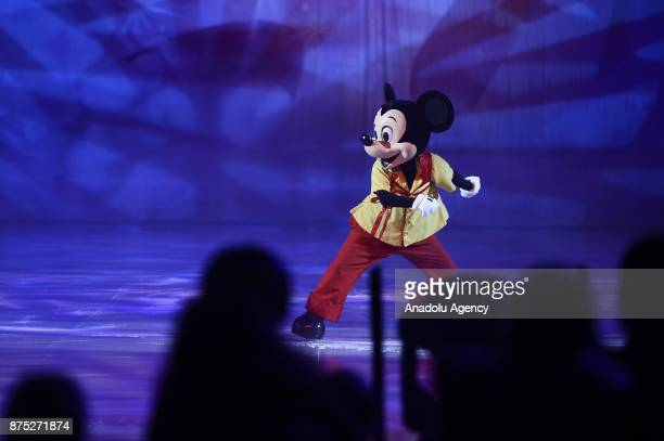 Mickey Mouse character performs during the Disney on Ice show at Tauron Arena Krakow Poland on the November 17 2017 Disney on Ice is a show trough...