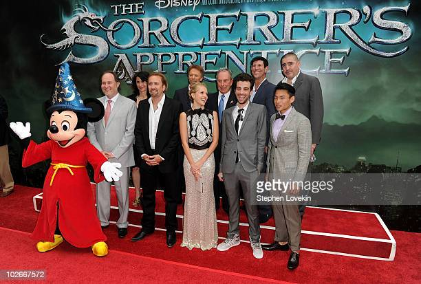 Mickey Mouse director Jon Turteltaub Commissioner of the Mayor's Office for Film Theater and Broadcasting Katherine Oliver actor Nicolas Cage...