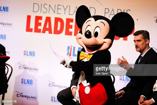 Mickey Mouse during the Leaders Cup 2017 Draw at Disneyland Resort Paris on January 26 2017 in Paris France