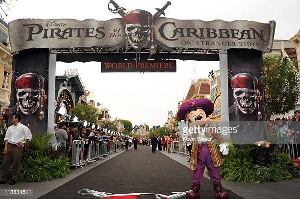 Mickey Mouse during the premiere of Walt Disney Pictures' 'Pirates of the Caribbean On Stranger Tides' held at Disneyland on May 7 2011 in Anaheim...