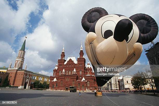 Mickey Mouse Hot Air Balloon on Red Square