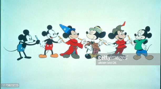 Mickey Mouse in various dresses