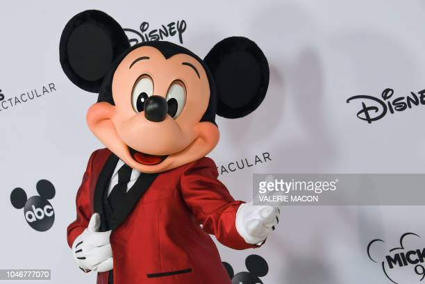 Mickey Mouse poses during Mickey's 90th Spectacular at The Shrine Auditorium on October 6 2018 in Los Angeles