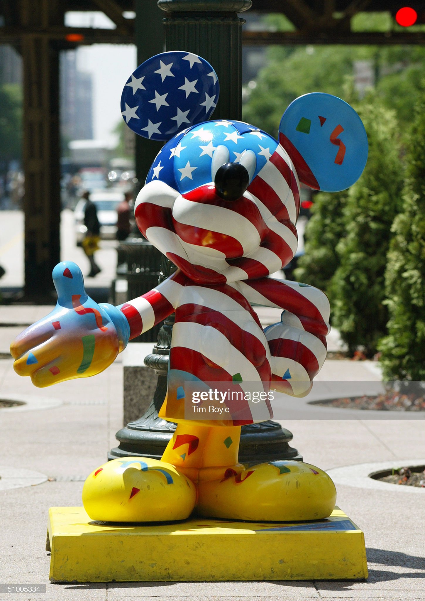 Chicago Hosts Celebrity Mickey Mouse Statues : News Photo