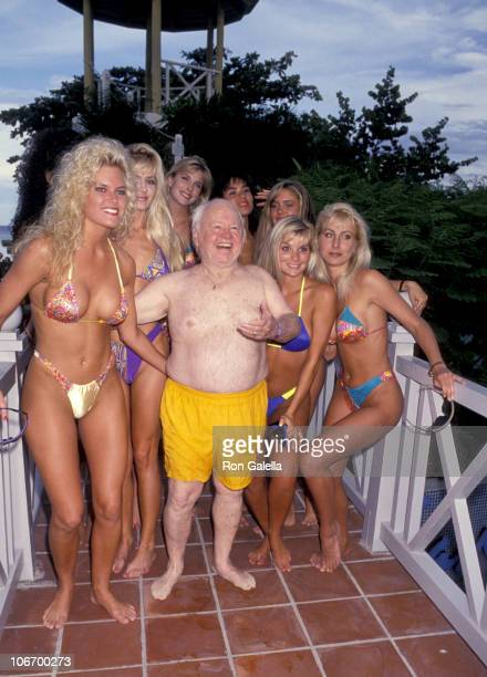 Mickey Rooney and Hawaiian Tropic Girls during Celebrity Sports Invitational for the Benefit of The American Oceans Campaign September 29 1993 at The...