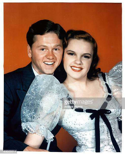 Mickey Rooney and Judy Garland in a publicity portrait for the film 'Strike Up The Band' 1940