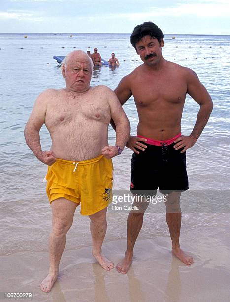 Mickey Rooney and son during Celebrity Sports Invitational for the Benefit of The American Oceans Campaign September 29 1993 at The Sandal's Dunn's...