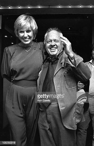 Mickey Rooney and Wife Jan during After Party celebrating last performance of Sugar Babies at Luchow's Restaurant in New York City New York United...