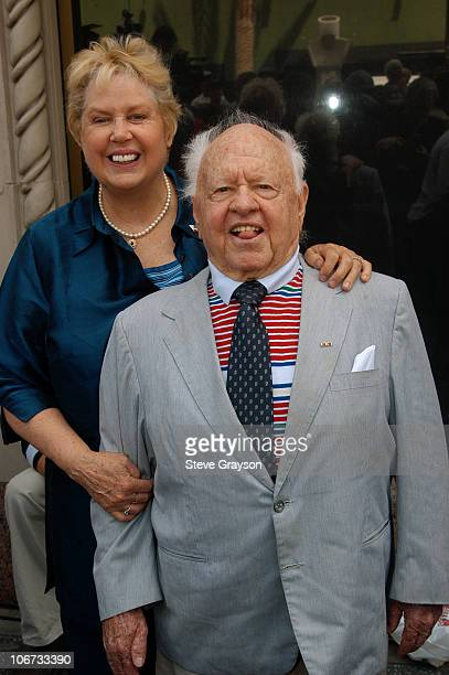 """Mickey Rooney and wife Jan. During Hollywood Celebrates the 100th Birthday of Bob Hope - The Intersection of Hollywood and Vine Proclaimed """"Bob Hope..."""