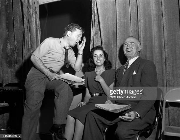 Mickey Rooney, Elizabeth Taylor and Donald Crisp reprise their film roles for the radio adaptation of the 1944 theatrical movie, National Velvet, on...