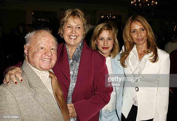 Mickey Rooney Jan Rooney Patricia Arquette and Rosanna Arquette