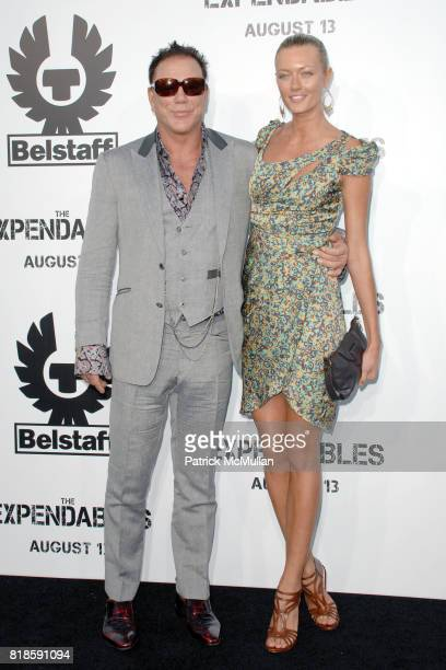 Mickey Rourke and Anastassija Makarenko attend Exclusive World Sneak Screening of THE EXPENDABLES at Grauman's Chinese Theatre on August 3 2010 in...