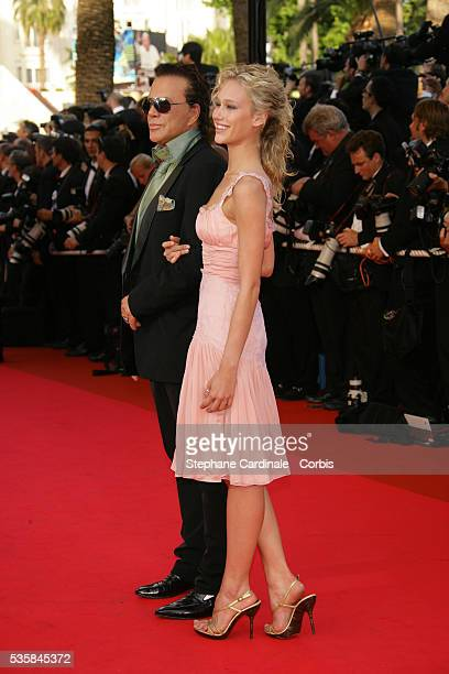 Mickey Rourke and Christine Myers arrive at the premiere of 'Ocean's 13' during the 60th Cannes Film Festival