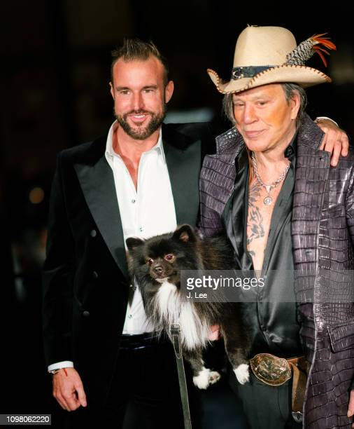 Mickey Rourke and Philipp Plein attend Philipp Plein show on February 11 2019 in New York City