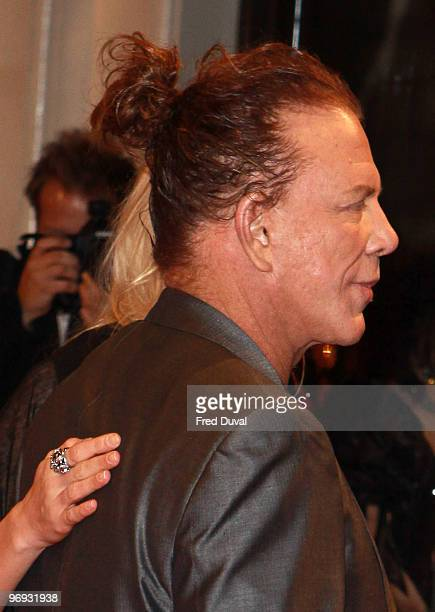 Mickey Rourke attends The Orange British Academy Film Awards 2010 at The Royal Opera House on February 21, 2010 in London, England.
