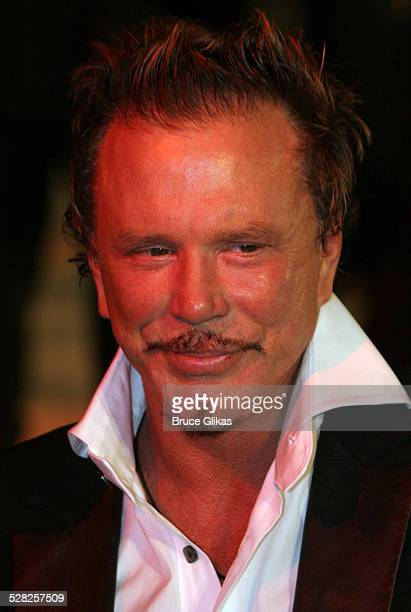 Mickey Rourke during 2006 Vanity Fair Oscar Party at Morton's in West Hollywood California United States
