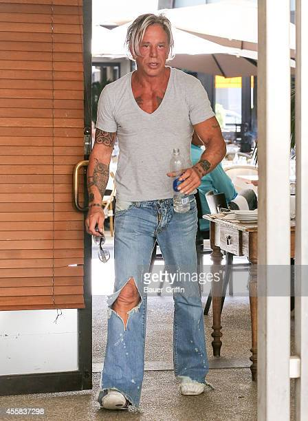 Mickey Rourke is seen in Beverly Hills on September 20 2014 in Los Angeles California
