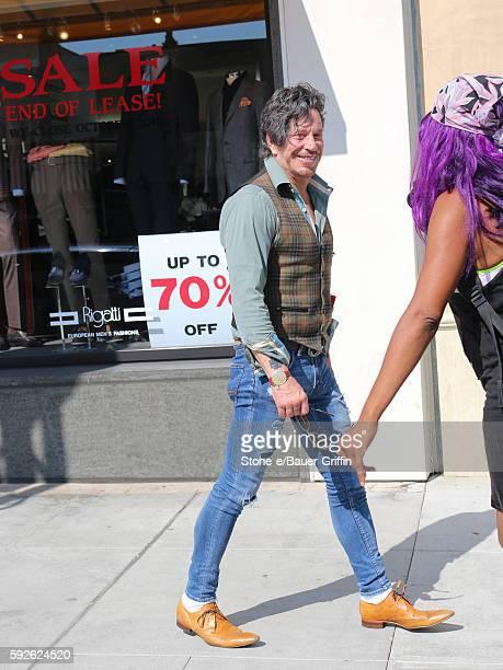 Mickey Rourke is seen on August 20 2016 in Los Angeles California