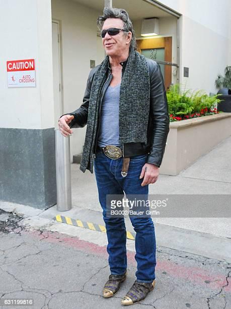 Mickey Rourke is seen on January 07 2017 in Los Angeles California