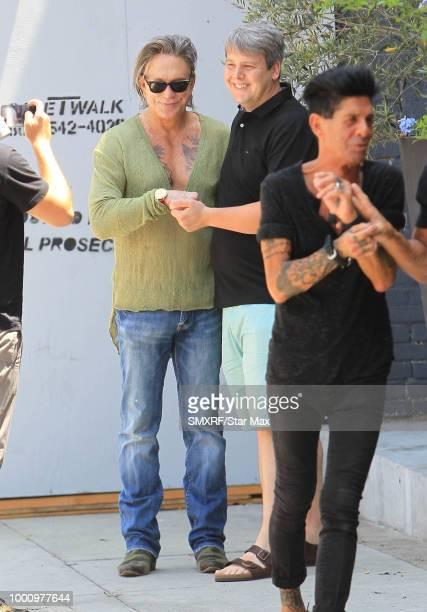 Mickey Rourke is seen on July 17 2018 in Los Angeles CA