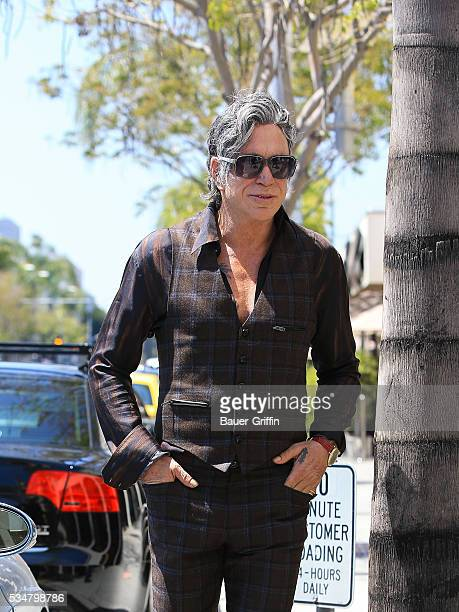 Mickey Rourke is seen on May 27 2016 in Los Angeles California