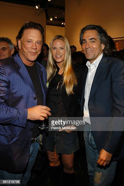 Mickey Rourke Kelly Lynch and Brian Glazer attend Ten presents Timothy GreenfieldSanders XXX 30 PornStar Portraits West Coast Exhibit at...