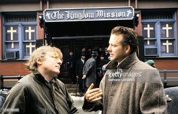 Mickey Rourke on the set of the movie Angel heart by Alan Parker on March 01 1987