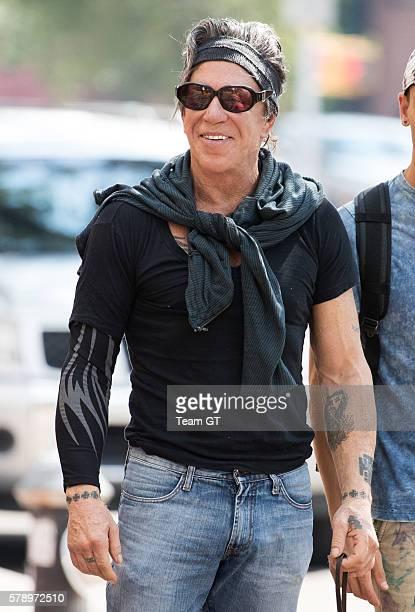 Mickey Rourke seen on July 22 2016 in New York City