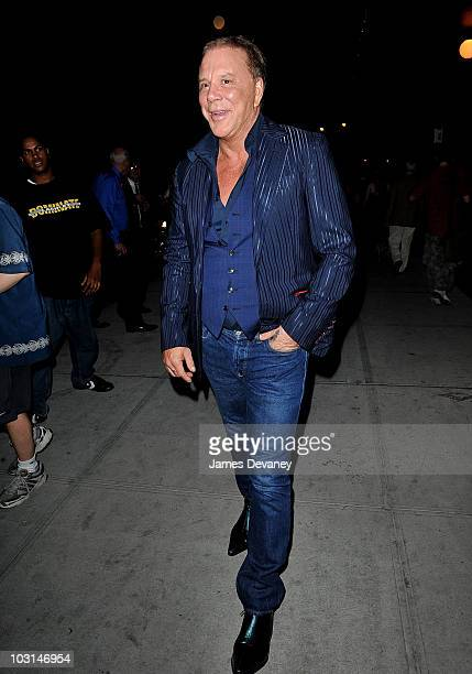 Mickey Rourke seen on the streets of Manhattan on July 28 2010 in New York City