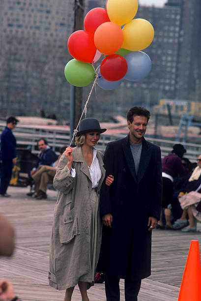 Mickey Rourke and Kim Basinger filming
