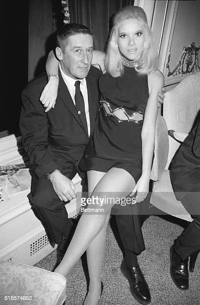 Mickey Spillane and wife Sherry at a press party for Penthouse Magazine Party was at New York's Plaza Hotel Thur night 10/9/1969