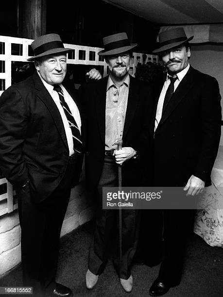 Mickey Spillane Jay Bernstein and Stacy Keach attend the wrap party for the film 'Murder Me Murder You' at Ma Maison Restaurant in Beverly Hills...