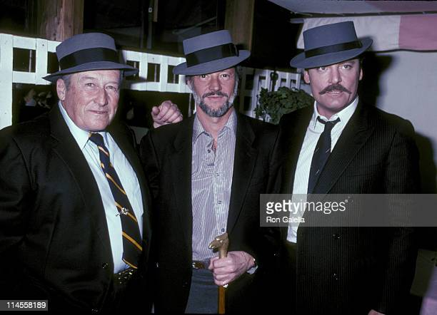 Mickey Spillane Jay Bernstein and Stacy Keach during Wrap Party for the Film 'Murder Me Murder You' at Ma Maison Restaurant in Beverly Hills...