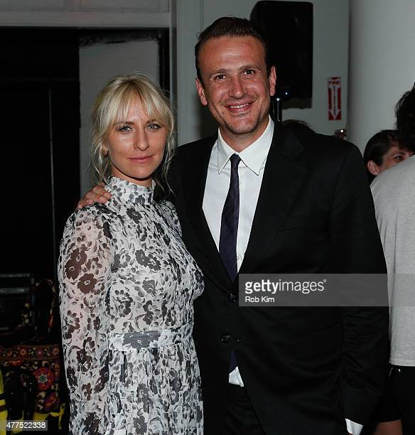 Mickey Sumner and Jason Segel attend The End Of The Tour Opening Night Screening After Party BAMcinemaFest 2015 at Brooklyn Masonic Temple on June 17...