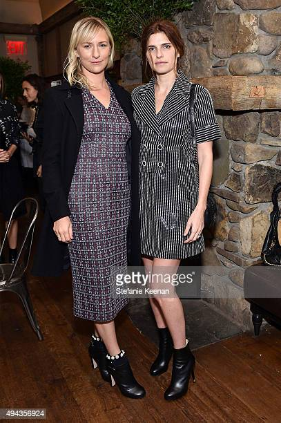 Mickey Sumner and Lake Bell attend Through Her Lens The Tribeca Chanel Women's Filmmaker Program luncheon at Locanda Verde on October 26 2015 in New...