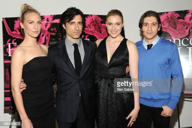 Mickey Sumner Noah Baumbach Greta Gerwig and Michael Zegan attend 'Frances Ha' New York Premiere at MOMA on May 9 2013 in New York City