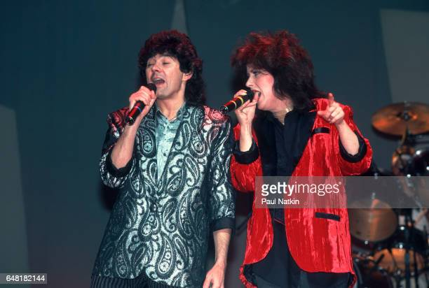 Mickey Thomas and Grace Slick of the Jefferson Starship at the Star Plaza Theater in Merrillville Indiana March 7 1986